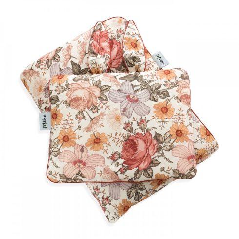 Ágynemű szett nyuszifüles kispárnával paplannal együtt virág mintás