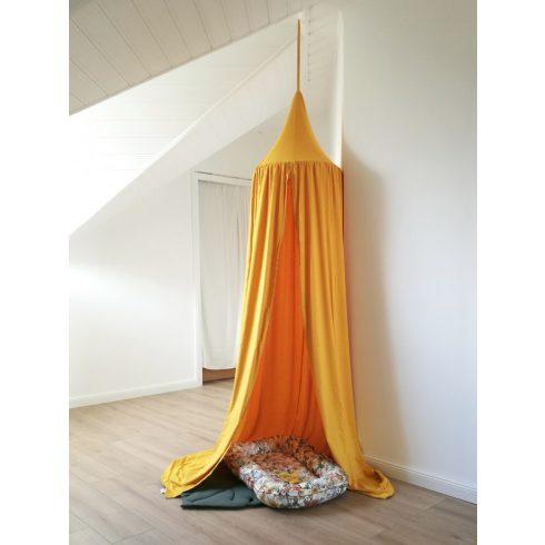 Baldachin gyerekszobába nagy méret mustár színű