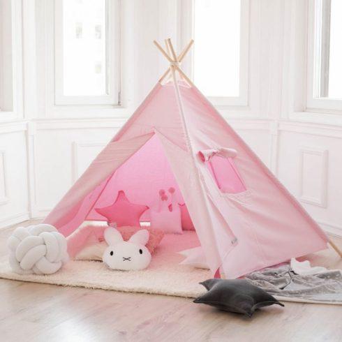Indiánsátor  teepee gyerekeknek rózsaszín