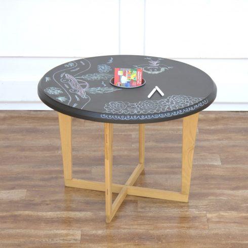 Krétatáblás gyerek asztal montessori gyerekszoba bútor