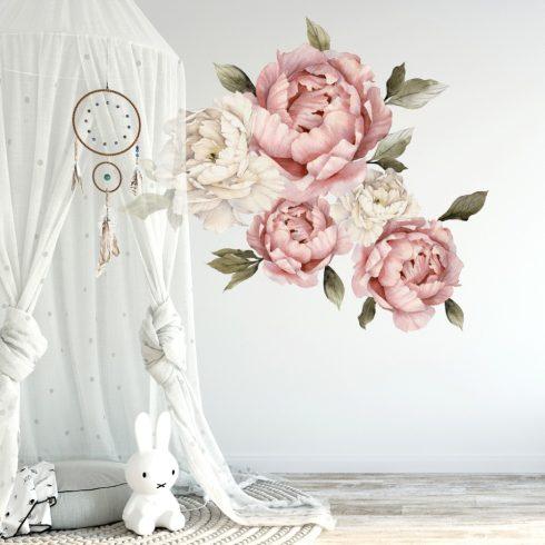 Falmatrica Bazsarózsa csoportban mályva és krém színű nagy virágok 3 méretben