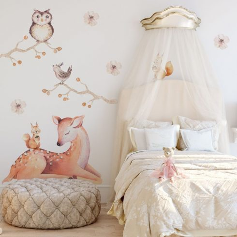 Falmatrica Őzike és erdei állatok kompozíció 100 cm x 100 cm